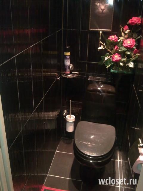 Темный туалет дизайн