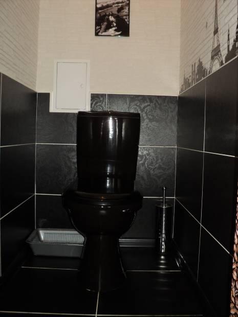 Туалет дизайн черно белый