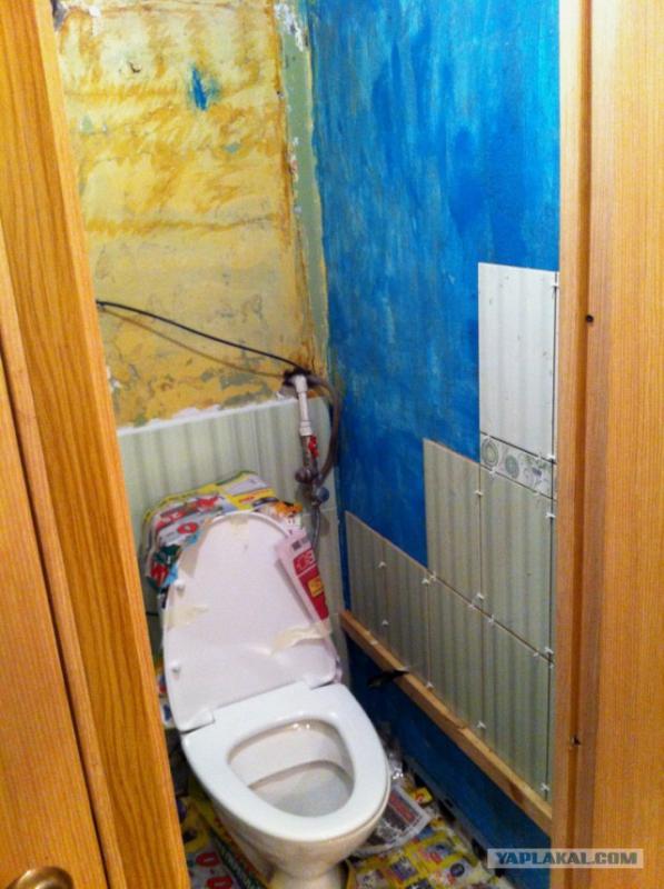 Ремонт в туалете в квартире своими руками