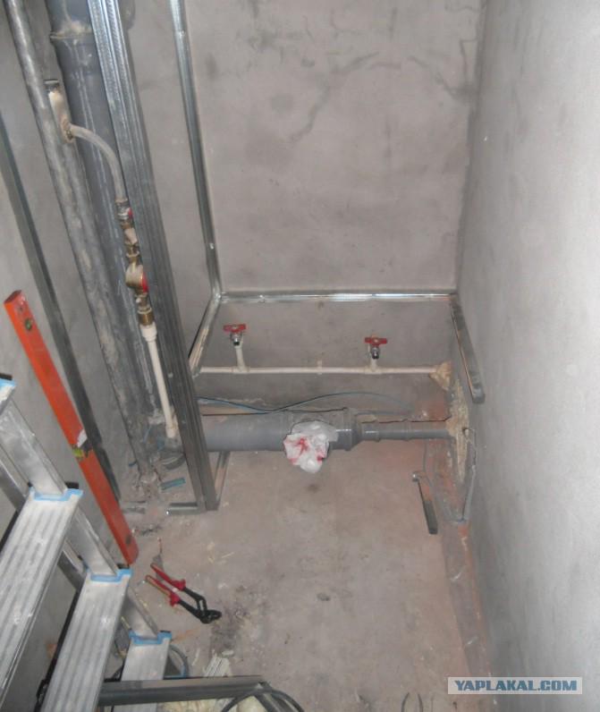 Спрятать трубы в туалете своими руками 26