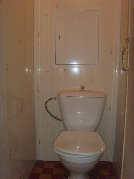 Туалет из панелей пвх фото
