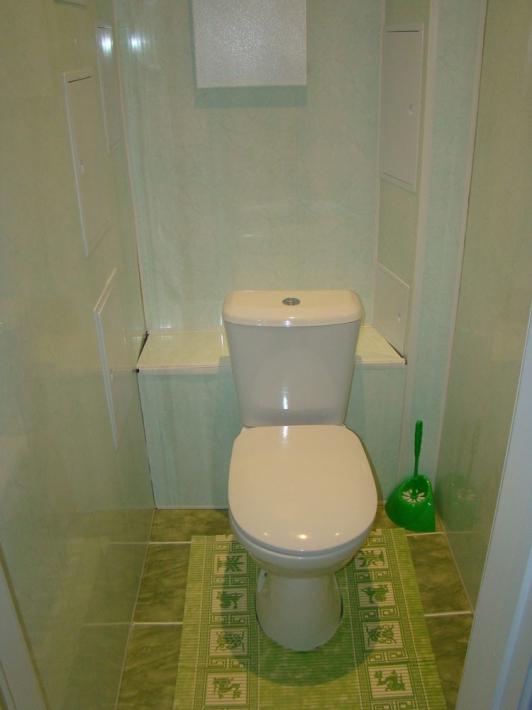 Отделка туалета пластиковыми панелями: основы выбора и монтажа с примерами на фото