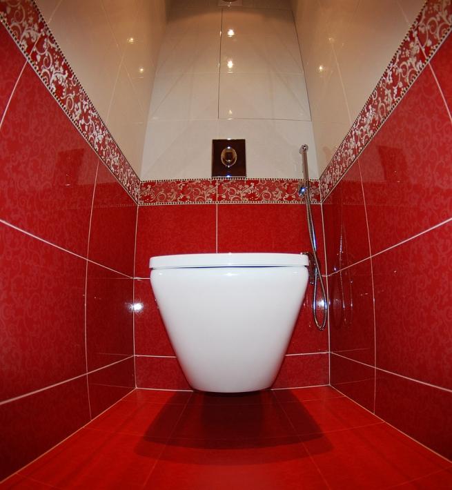 Узкий туалет дизайн