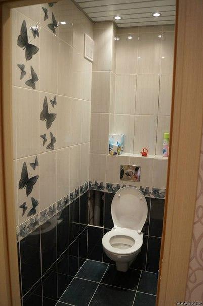 Дизайн кафельной плитки в туалете