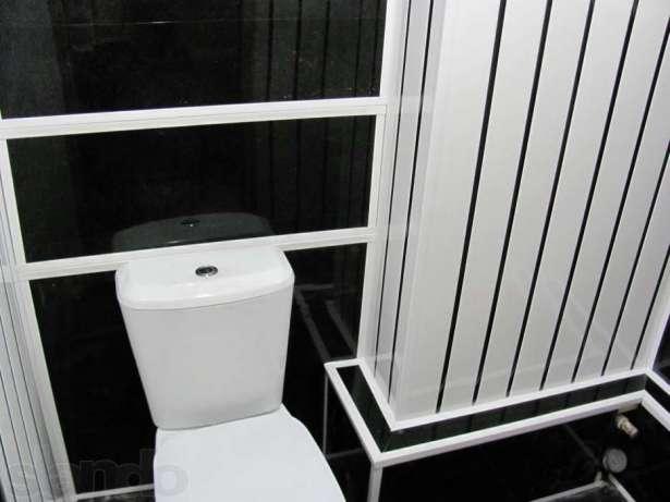 Дизайн туалета из пластиковых панелей фото