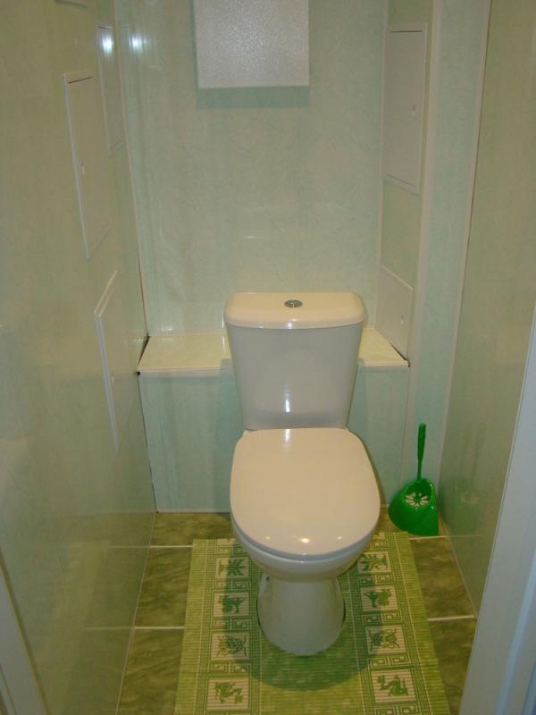 ремонт туалета пвх панелями фото