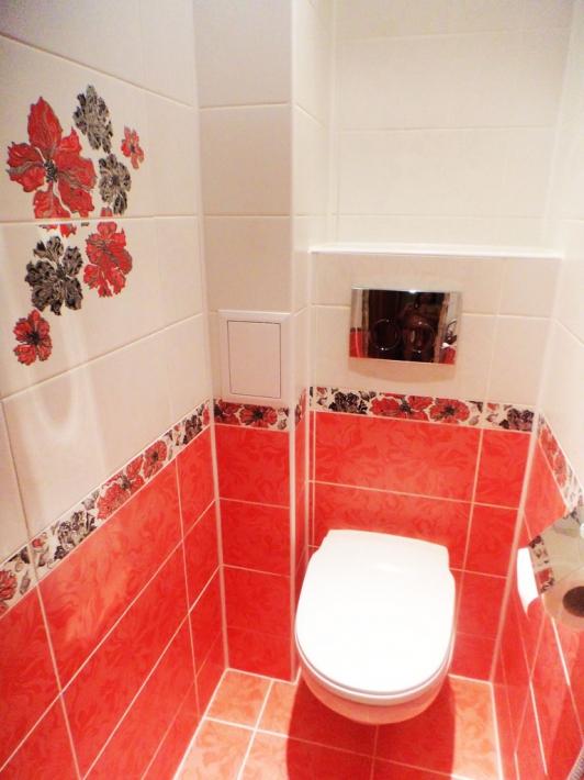 Дизайн плитки в туалете - 35 фото