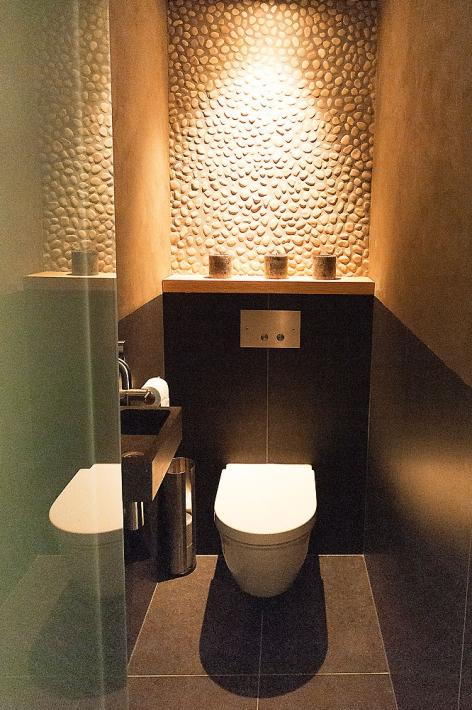 Дизайн туалета искусственным камнем