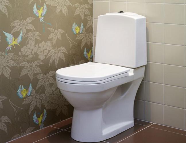 Ремонт туалета обоями своими руками фото