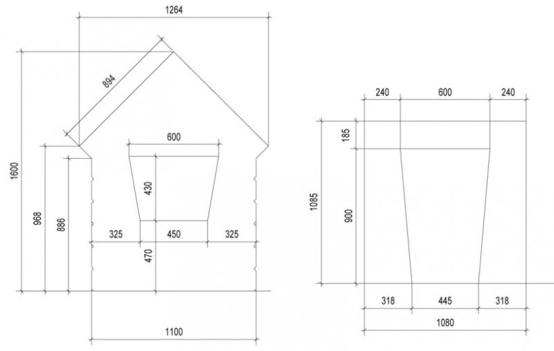 Дачный туалет своими руками чертежи с размерами 525
