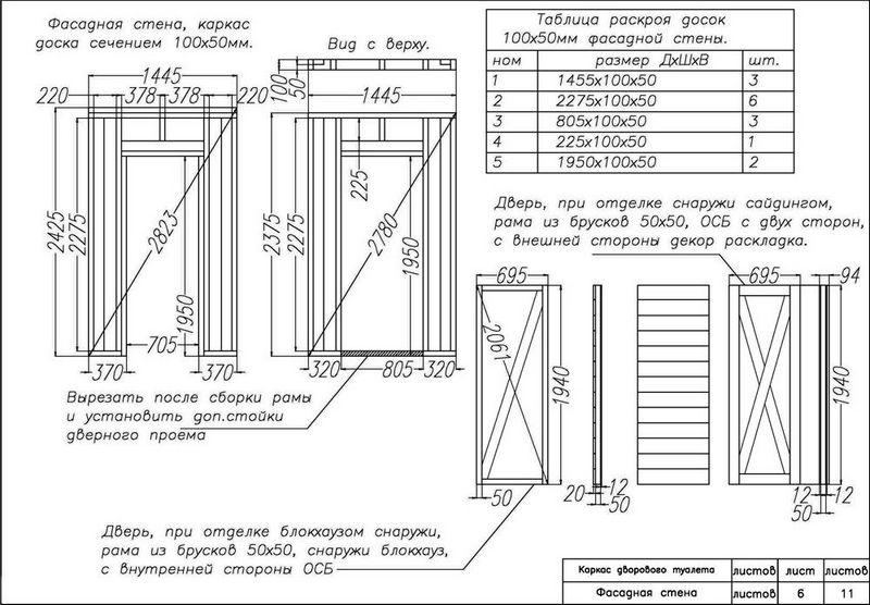 Туалет домик на даче своими руками чертежи размеры 29