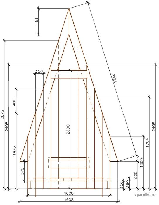 Туалет домик на даче своими руками чертежи размеры 5