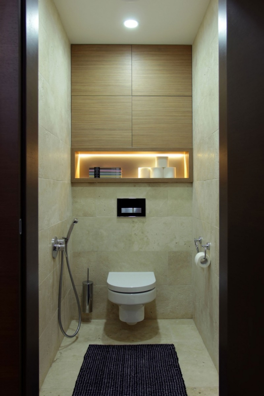 шкаф в туалете за унитазом 30 примеров с фото
