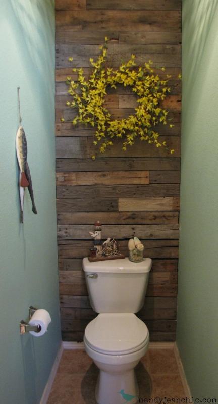 Декор стены туалета своими руками фото