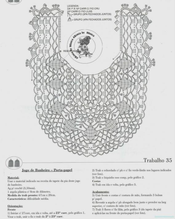 Коврики для туалета, вязаные крючком - 20 примеров с фото
