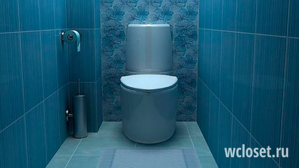 Туалет в синем цвете дизайн