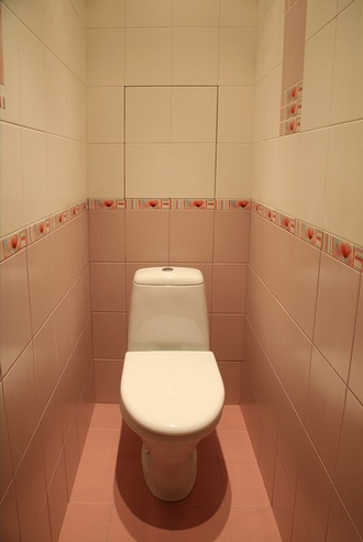 Туалет в квартире реальные фото