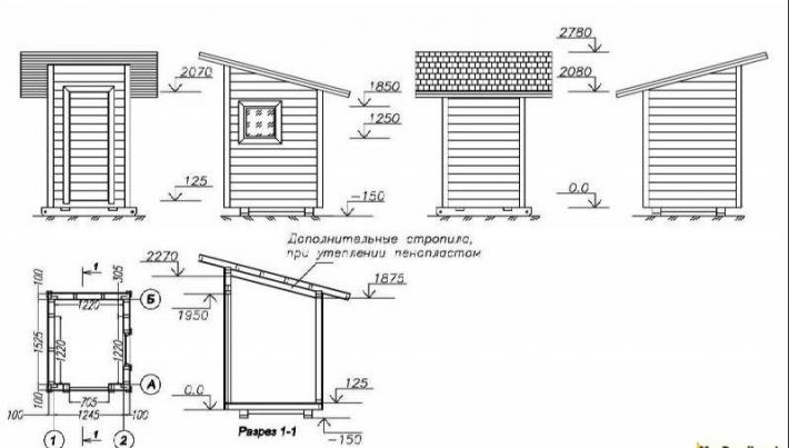 Дачный туалет своими руками: 48 чертежей   фото